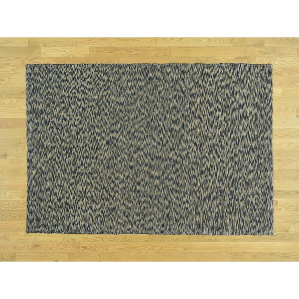 One-of-a-Kind Coddington Leather Chain Stitch Handwoven Wool Area Rug by Isabelline