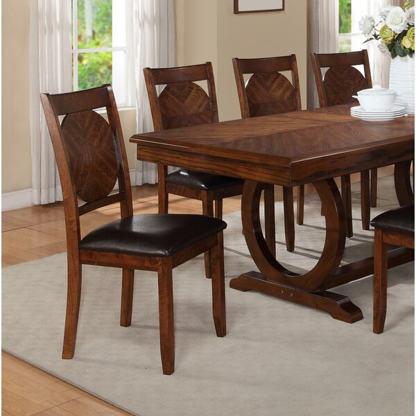 Coraline Round Solid Wood Dining Chair (Set of 2) by Millwood Pines