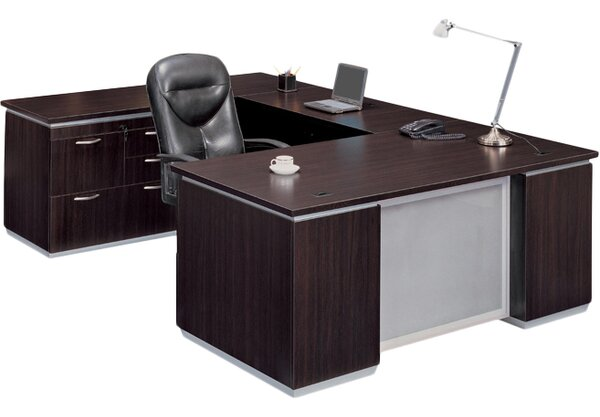 Pimlico Personal File U-Shape Executive Desk by Flexsteel Contract