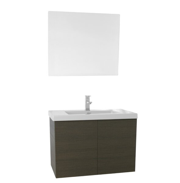 Space 31 Single Bathroom Vanity Set with Mirror by Nameeks Vanities