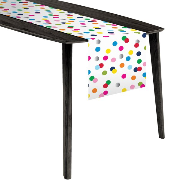 Birthday Dots Plastic Table Runner by The Holiday Aisle