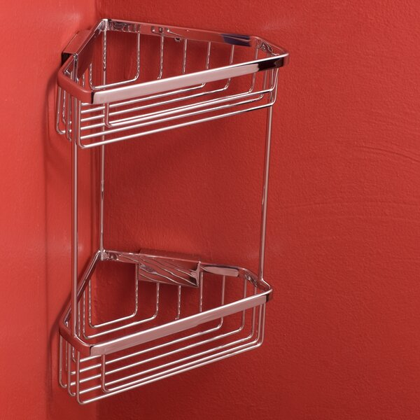 Double-Tier Corner Shower Caddy by Rebrilliant