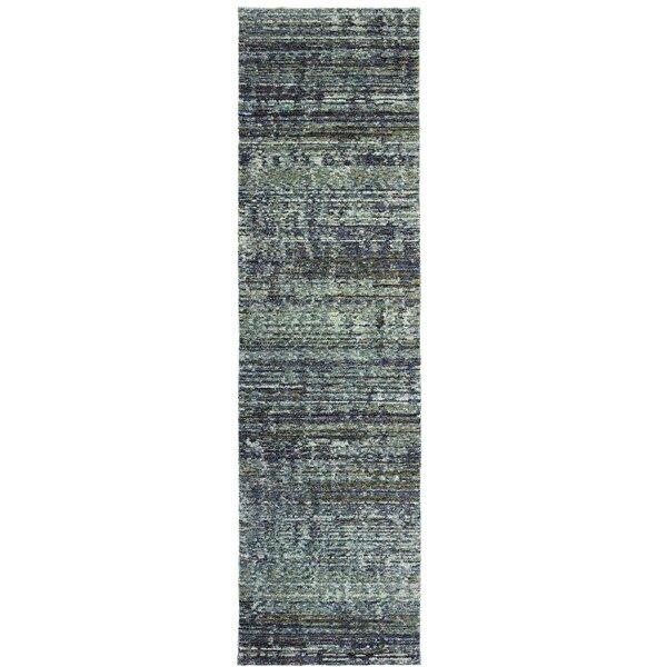 Bobby Blue/Gray Area Rug by Winston Porter