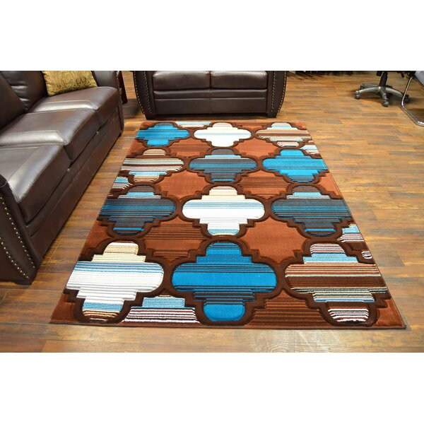 Mccampbell Brown/Blue Area Rug by Ivy Bronx