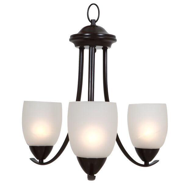 Monrovia 3 - Light Shaded Classic / Traditional Chandelier by Charlton Home Charlton Home