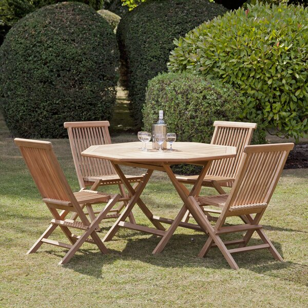 Reade 5 Piece Teak Dining Set by Loon Peak