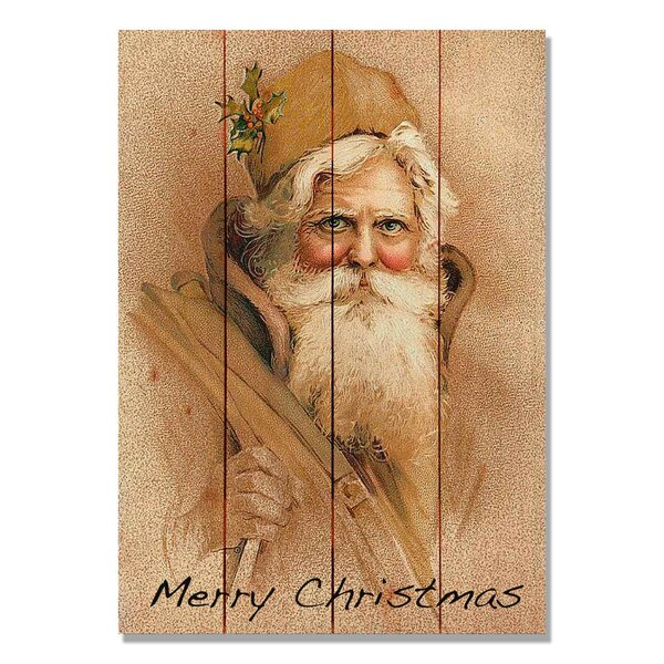 4 Piece Wile E. Wood Merry Christmas Painting Print Set by Gizaun Art