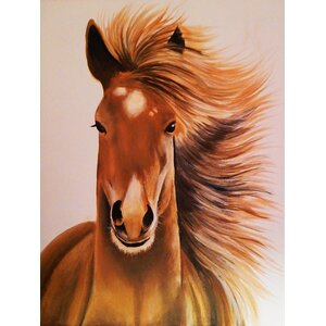 'Seabiscuit Horse' by Ed Capeau Graphic Art on Wrapped Canvas by Buy Art For Less