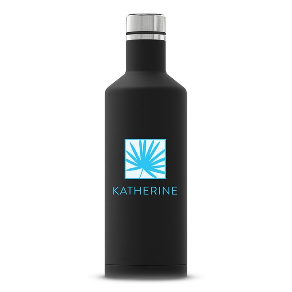 Santucci Palm Leaf Printing Personalized Insulated 17 oz. Stainless Steel Water Bottle by Ebern Designs
