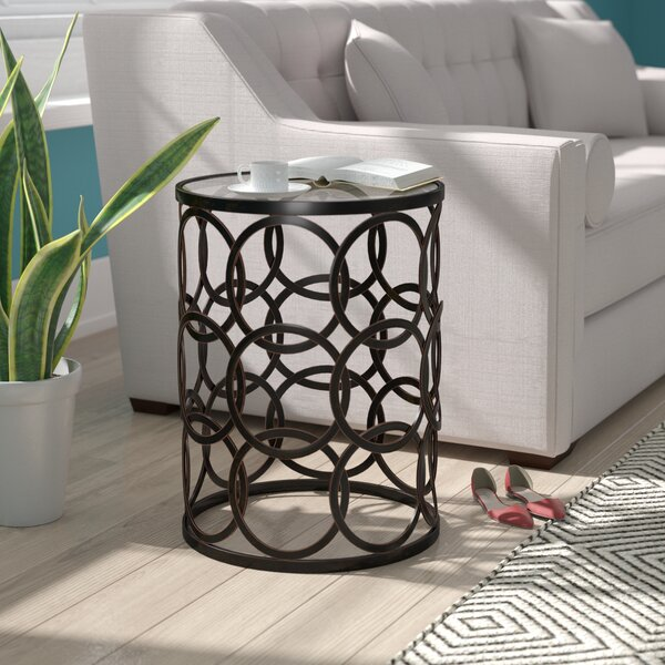 Mchone End Table by Mercury Row