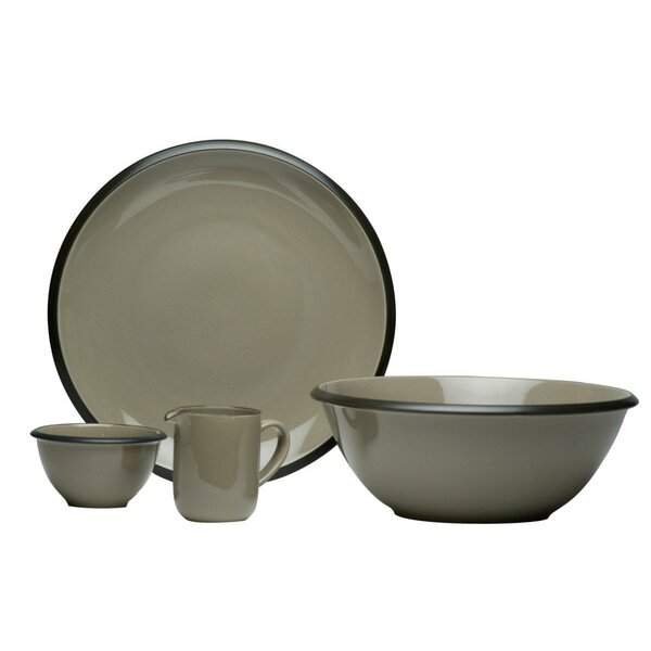 Hampshire 4 Piece Place Setting, Service for 1 by Red Vanilla