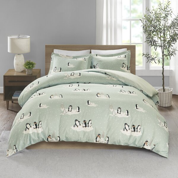 Bruce Cozy Flannel Duvet Cover Set by The Holiday Aisle