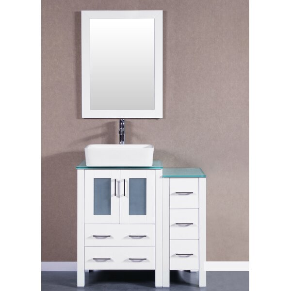 Stella 36 Single Bathroom Vanity Set with Mirror by Bosconi