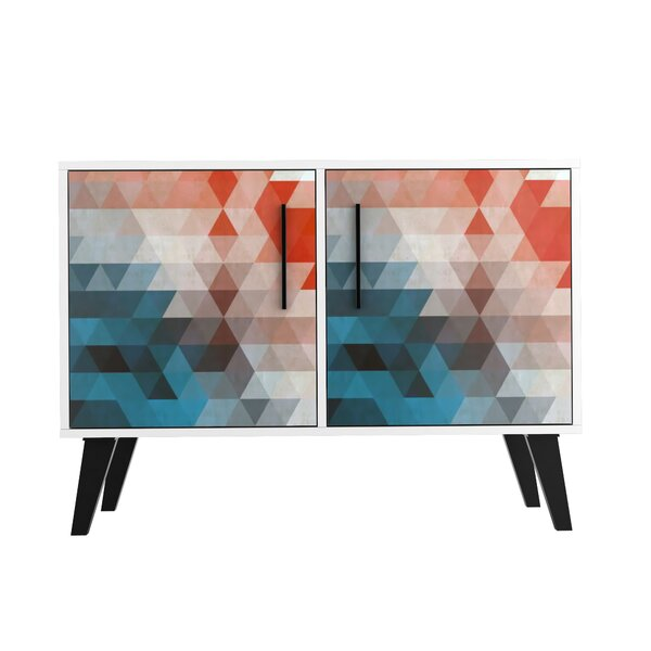 Heady Mid Century Modern 2 Door Accent Cabinet by George Oliver