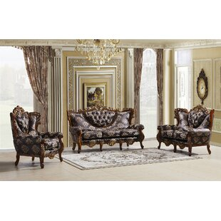 Hargis 3 Piece Standard Living Room Set by Astoria Grand