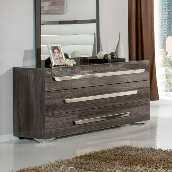 Montekki 3 Drawer Standard Dresser by Orren Ellis
