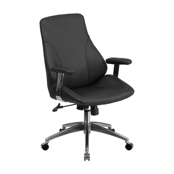 Irasburg Executive Swivel Mid-Back Leather Desk Chair by Latitude Run