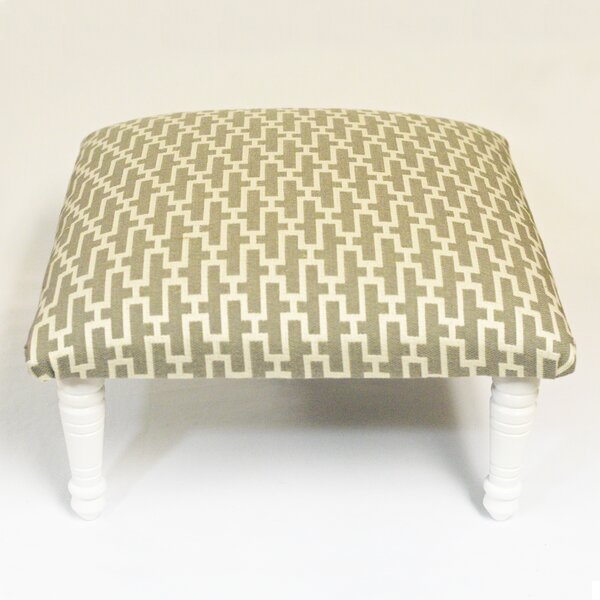 Zig Zag Geometric Ottoman by Corona Decor