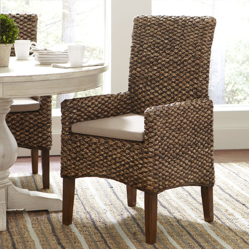Awesome Woven Seagrass Arm Chairs