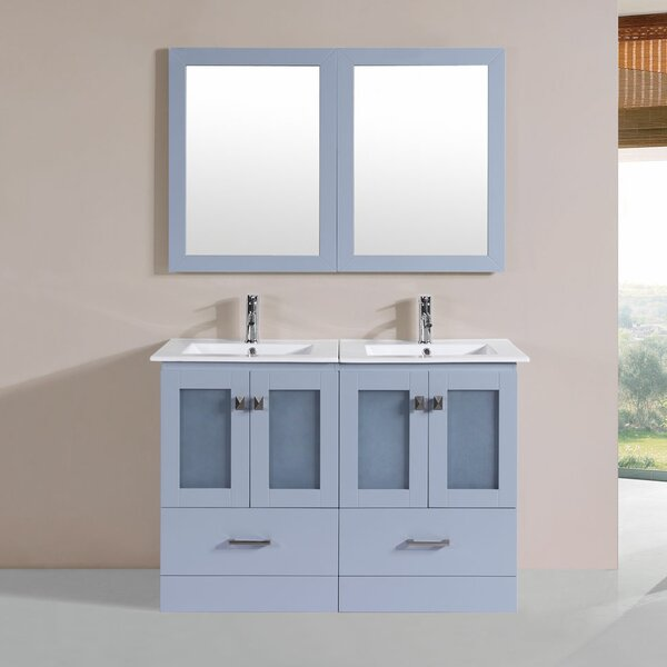 Lapoint 48 Double Modern Bathroom Vanity Set by Latitude Run