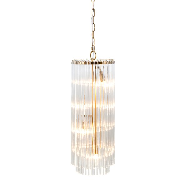 Balina Crystal 4-Light Drum Chandelier by Nakasa