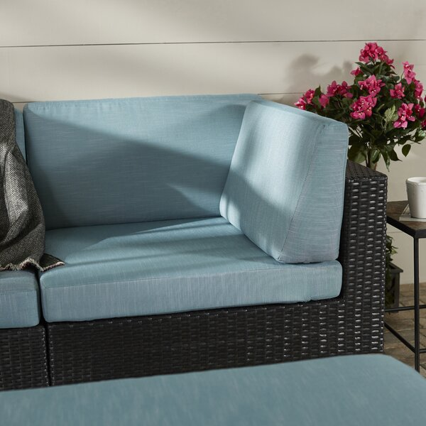 Chretien Patio Corner Seat Chair with Cushion by Brayden Studio