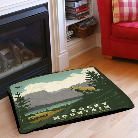 Rocky Mountain National Park Indoor/Outdoor Pet Bed by Manual Woodworkers & Weavers