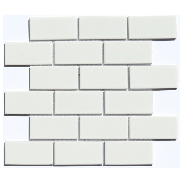 Subway 2 x 4 Ceramic Mosaic Tile in White by NovoTileStudio