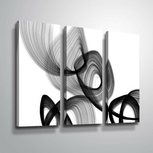 'Abstract Poetry 106' Rectangle Graphic Art Print Multi-Piece Image on Wrapped Canvas by Orren Ellis