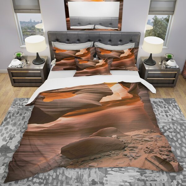 Lower Antelope Slot Canyon Duvet Cover Set by East Urban Home
