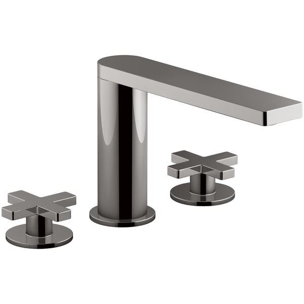 Composed Widespread Cross Handles Bathroom Faucet by Kohler