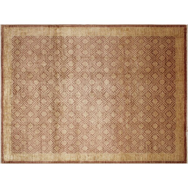 One-of-a-Kind Montague Hand-Knotted Light Brown Area Rug by Astoria Grand