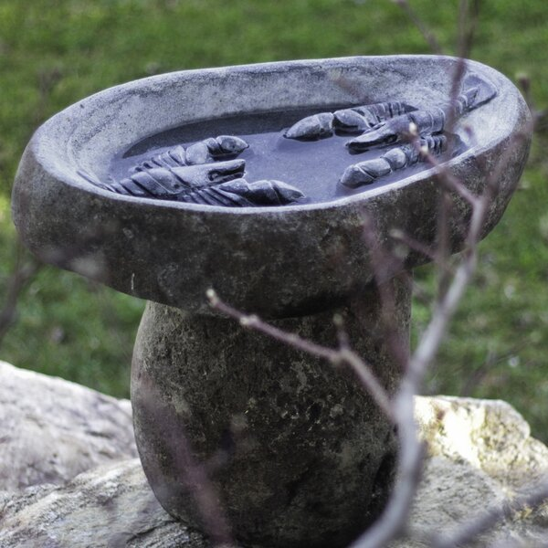 Lobster Granite Boulder Birdbath by Stone Age Creations