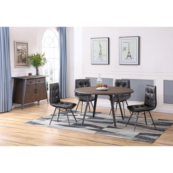 Bodesha 5 Piece Solid Wood Dining Set by 17 Stories