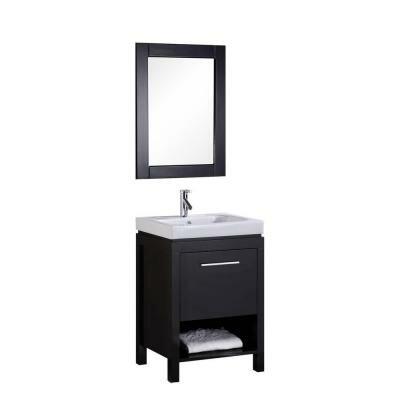 Oakley 24 Single Bathroom Vanity Set with Mirror by Home Loft Concepts