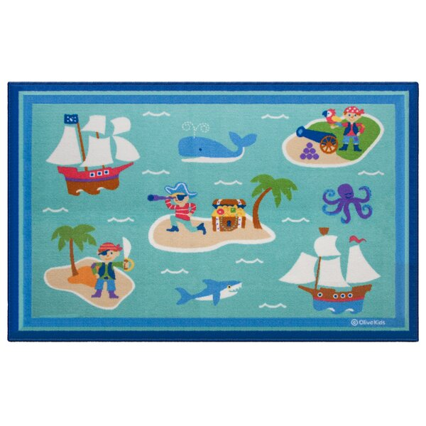 Pirates Blue Area Rug by Wildkin