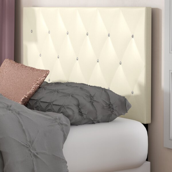 Areswell Crystal Diamond Upholstered Panel Headboard by Mercer41