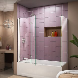 Aqua Fold 36  x 58  Folding Tub Door & Folding Doors | Wayfair