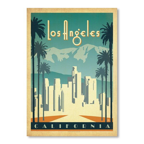 Los Angeles Vintage Advertisement by East Urban Home