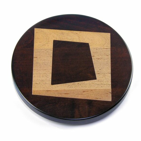 Artisan Woods Abstract Square Lazy Susan by Martins Homewares