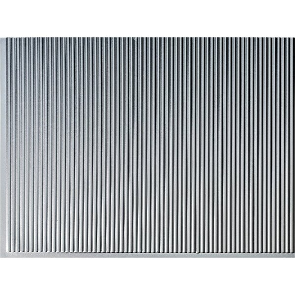 Rib Backsplash Wall Paneling 18 x 24 Field Tile in Argent Silver by MirroFlex