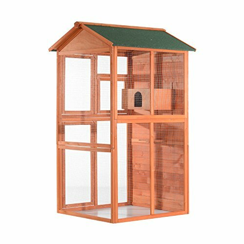 Filbert Flight House Outdoor Aviary Bird Cage with Nesting Box by Tucker Murphy Pet