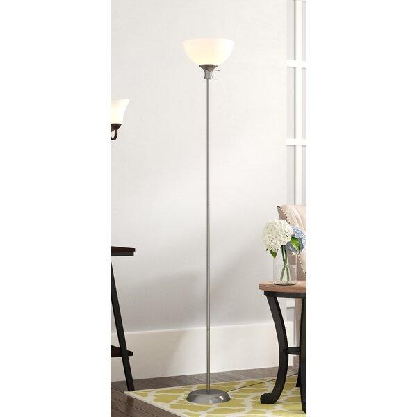 Heredia-Santoyo 71 Torchiere Floor Lamp by Winston Porter