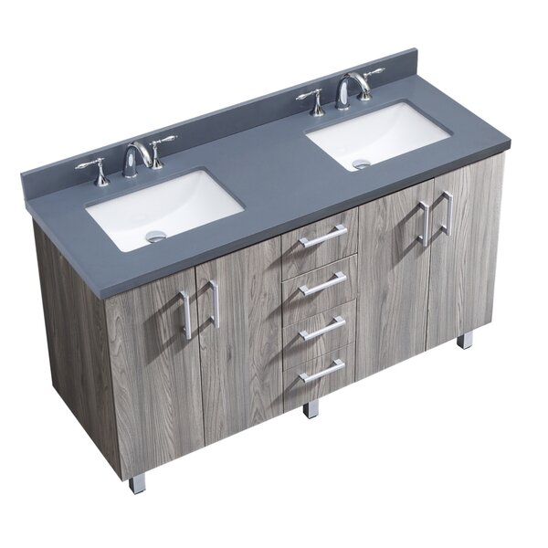 IN Series 61 Double Bathroom Vanity Set by InFurniture