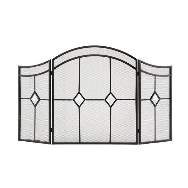 Diamond 3 Panel Steel Fireplace Screen by Pleasant Hearth