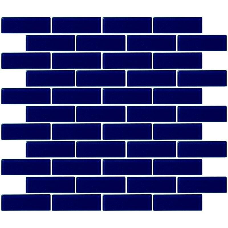 Gl Subway Tile In Navy Blue