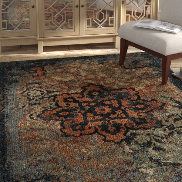 Alice Blue/Beige/Brown Area Rug by Bloomsbury Market