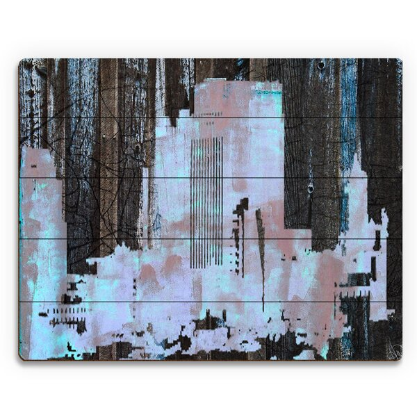 Urban City Graphic Art on Plaque by Click Wall Art