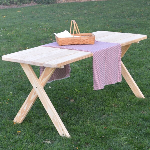 Sangerfield Pine Cross-leg Picnic Table by Loon Peak