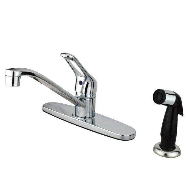 Wyndham Single Handle Centerset Kitchen Faucet with Side Sprayer
